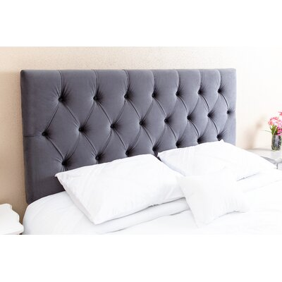 Wade Logan Rich Queen Upholstered Panel Headboard