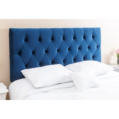 Rich Queen Upholstered Panel Headboard Upholstery: Navy Blue