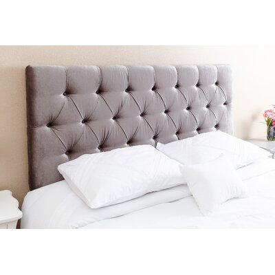 Rich Queen Upholstered Panel Headboard Upholstery: Gray