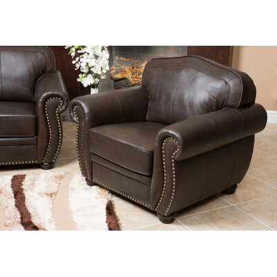 Hotchkiss Italian Leather Club Chair