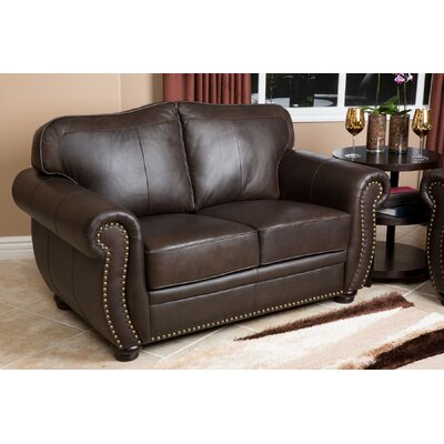 Hotchkiss Leather 3 Piece Living Room Set