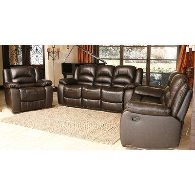 3 Piece Brownstone Leather Sofa Set