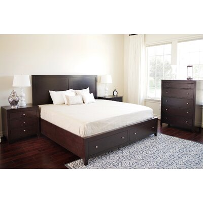Oneill Storage Panel 4 Piece Bedroom Set Size: Queen