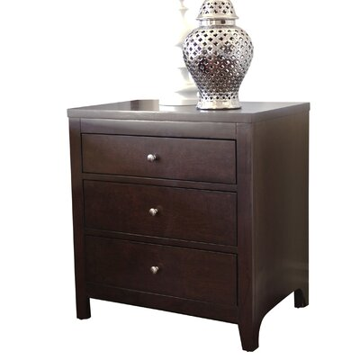 Oneill 3 Drawer Nightstand