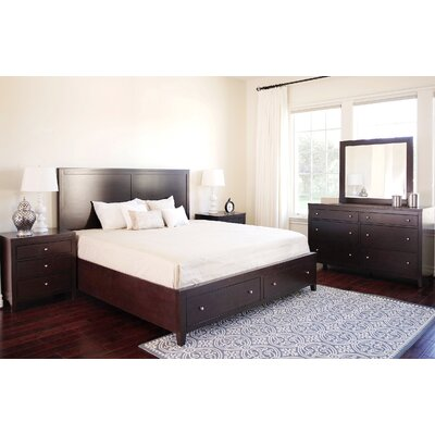 Oneill Storage Panel 5 Piece Bedroom Set Size: King
