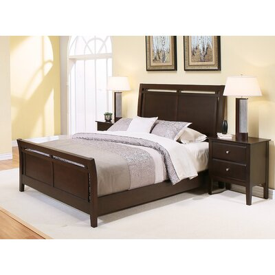 Palermo Sleigh 3 Piece Bedroom Set Size: Queen