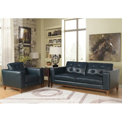 Caleb Top Grain Leather Sofa and Arm Chair Set