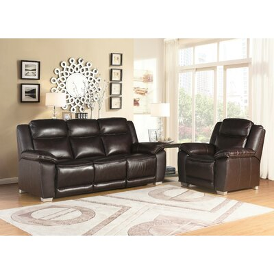 Evansburg 2 Piece Living Room Set Upholstery: Brown