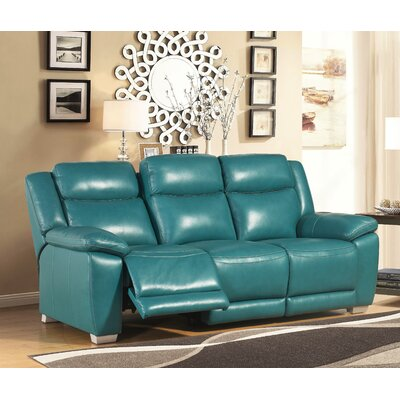 Red Barrel Studio RBRS3099 Evansburg Leather Reclining Sofa Upholstery