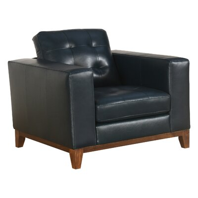 Caleb Top Grain Leather Club Chair
