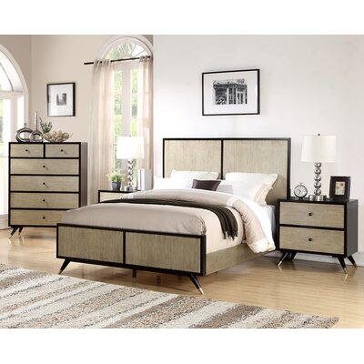 Bobby Mid Century Platform 3 Piece Bedroom Set Size: Queen