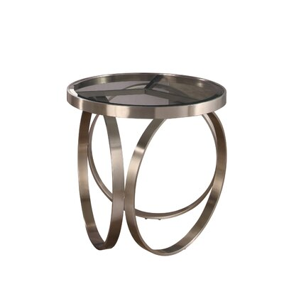 Amira Stainless Steel End Table Finish: Silver