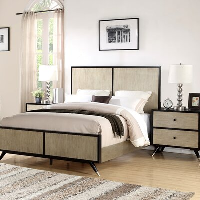 Bobby Mid Century Platform 2 Piece Bedroom Set Size: King