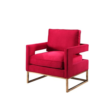 Clapham Velvet Arm Chair Upholstery: Rose