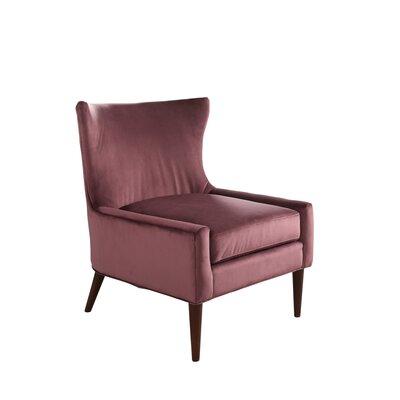 Caledonian Velvet Wingback Chair Upholstery: Purple