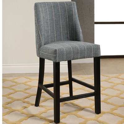 Rouet Pinstripe Counter 26.4 Bar Stool