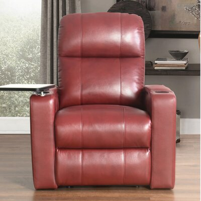Fairfax Power Recliner Upholstery: Red