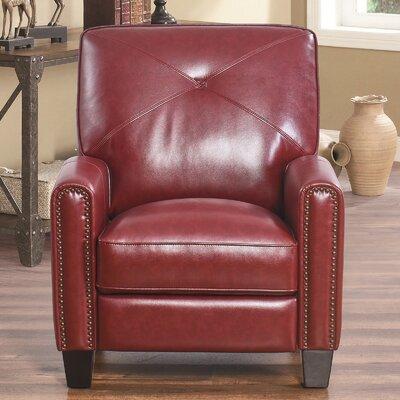 Bumgardner Manual Recliner Upholstery: Red