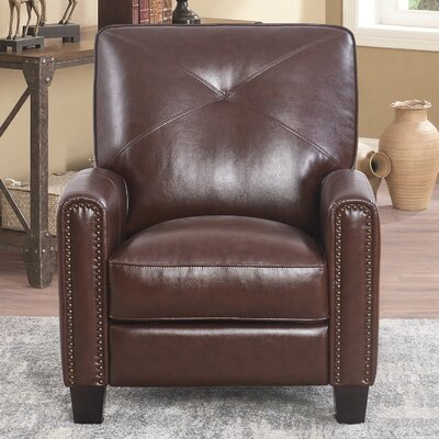 Bumgardner Manual Recliner Upholstery: Brown