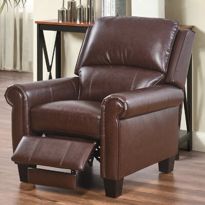 Bumpy Manual Recliner Upholstery: Brown