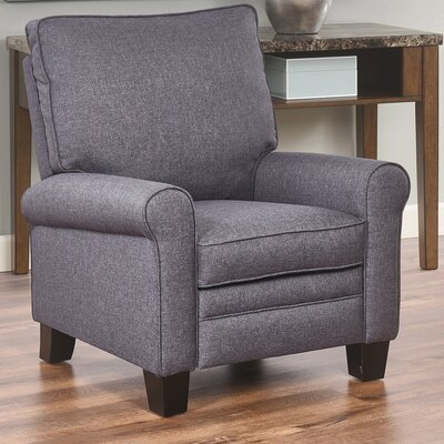 Bulwell Pushback Fabric Recliner Upholstery: Gray