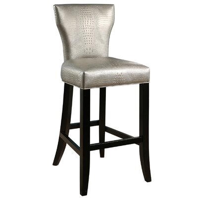 Zora Crocodile Embossed 30 Bar Stool