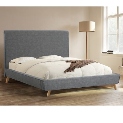 Newfane Upholstered Platform Bed Upholstery: Gray, Size: Queen