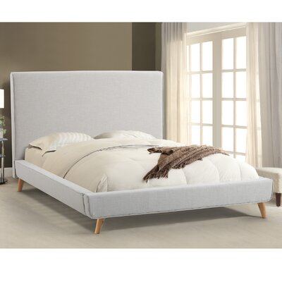 Newfane Upholstered Platform Bed Size: King, Color: Ivory