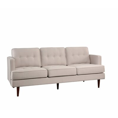 Vandenbosch Mid Century Tufted Sofa Upholstery: Ivory