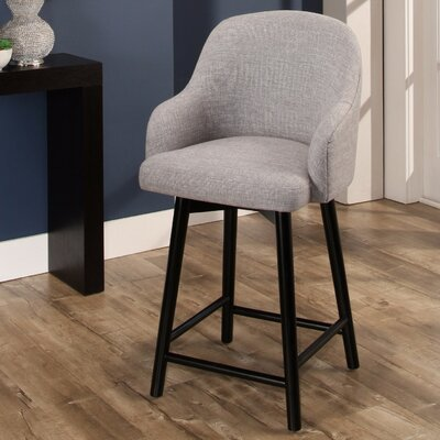 Savard 41 Swivel Bar Stool Color: Gray
