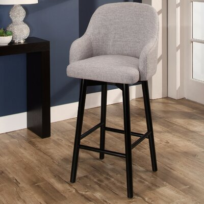 Savard 45.7 Swivel Bar Stool Color: Gray