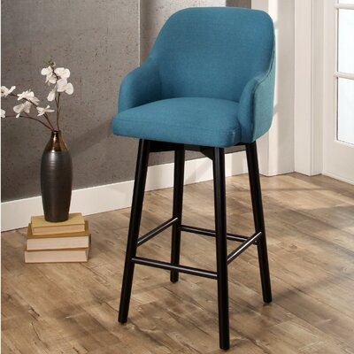 Savard 45.7 Swivel Bar Stool Color: Teal