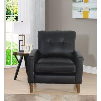 Malaysia Armchair Upholstery: Black