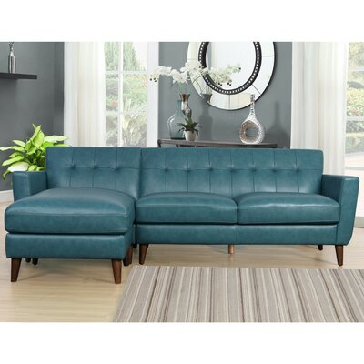 Guadalupe Leather Reversible Sectional