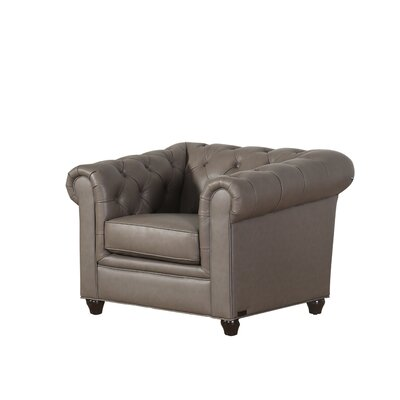 Andria Chesterfield Chair Upholstery: Gray