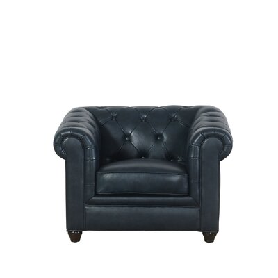 Andria Chesterfield Chair Upholstery: Navy