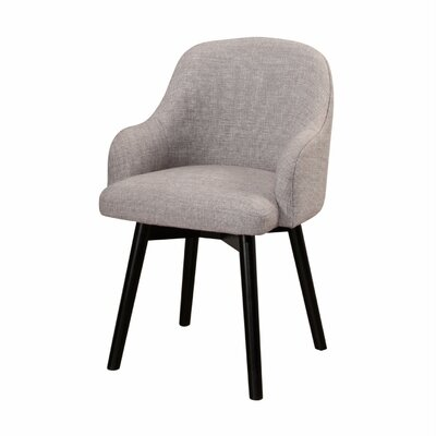 Savard Upholstered Dining Chair Upholstery Color: Gray