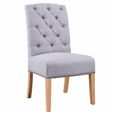 Klimas Linen Parsons Upholstered Dining Chair Upholstery Color: Light Blue