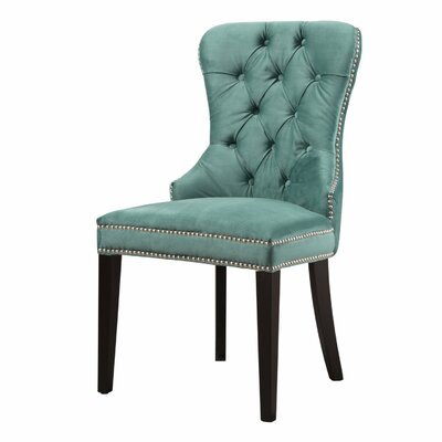 Mehdi Tufted Velvet Upholstered Dining Chair Upholstery Color: Emerald Green