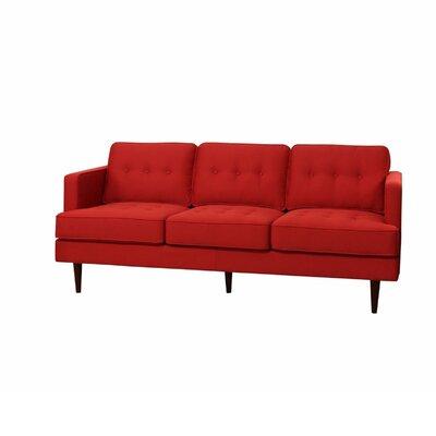 Vandenbosch Mid Century Tufted Sofa Upholstery: Red