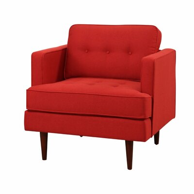 Vandenbosch Mid Century Tufted Armchair Upholstery: Red