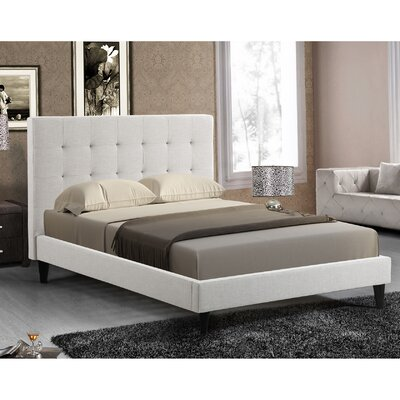 Bruno Upholstered Platform Bed Size: Full, Color: Ivory