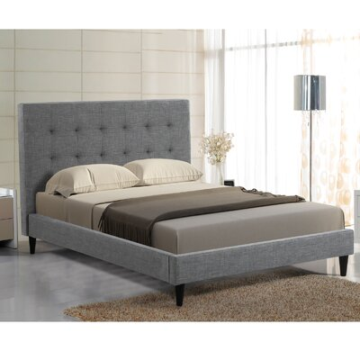 Bruno Upholstered Platform Bed Size: King, Color: Gray