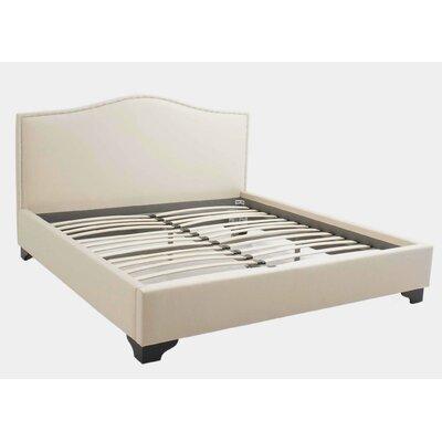 Abbyson Living Barrington Cream Fabric King Platform Bed