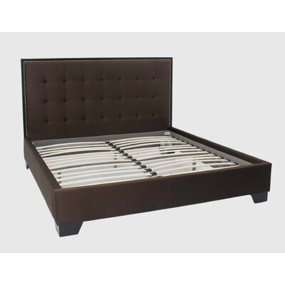 Abbyson Living Bayside Dark Brown Fabric King Platform Bed