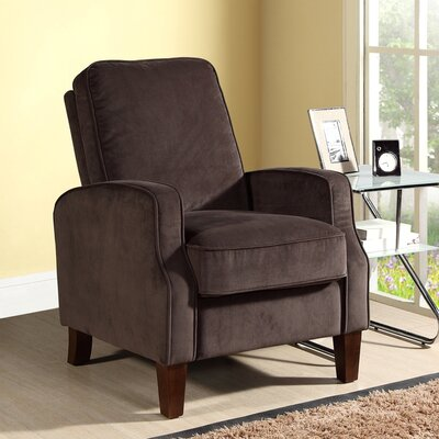 Buy Low Price Abbyson Living Carmen Microfiber Club Recliner Color Dark Brow