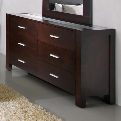 Credit for Azara 6 Drawer Dresser and Mirror S...
