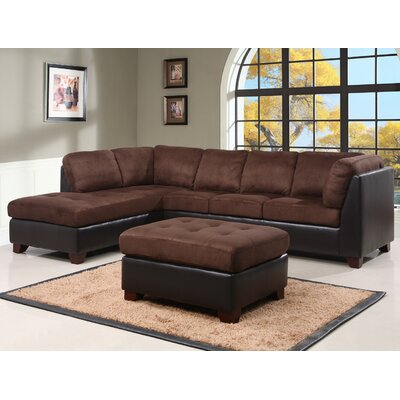 Charleston Sectional Upholstery Brown