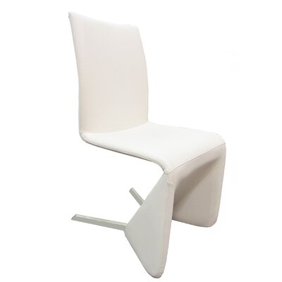 Bernice Upholstered Dining Chair (Set of 2) Upholstery: White