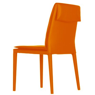 Daisy Side Chair (Set of 2) Upholstery: Orange